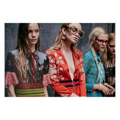 Backstage at the Gucci Women's Spring Summer 2016 Fashion Show