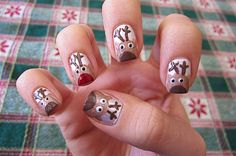 A cute nail design that's perfect for getting into the Christmas spirit!!!