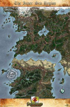 Handpainted Fantasy Map Concept by Djekspek.deviantart.com on ...