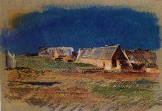 Landscape in Brittany, Peyrelebade by Odilon Redon