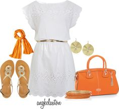 """""""White Dress"""" by angkclaxton on Polyvore"""