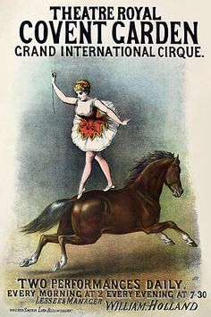 Grand International Cirque Covent Garden Vintage Circus Posters Sideshow Carnival Art Prints