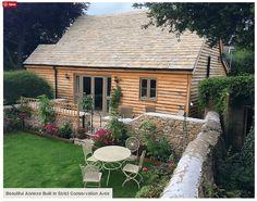 Custom Granny Annexe built in a strict conservation area. Garden Cabins, Garden Houses, Garden Cottage, Dream House Exterior, Garage Exterior, Cottage Exterior, Bothy, Granny Flat, Garden Studio