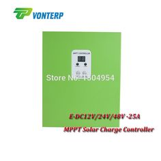 New solar charger mppt controller 25A 12V/24V/48V automatic recognition work Gel Vented NiCd etc with RS232.