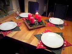 Tischset Stern Patchwork Anleitung Fotoanleitung Tutorial Weihnachten weihnachtliche Tischsets
