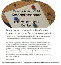 Domus Apart » Domus Apart – eine weitere Plattform im Internet – oder neue Wege der Kooperation?