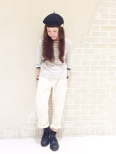 DOORS/MHL./靴下屋/Dr.Martens #whitejeans #spring #outfits #style