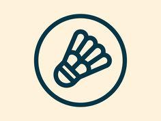 Birdie by Seita Goto Badminton Birdie, Badminton Club, Badminton Logo, Elephant Logo, Different Sports, Icon Design, Logo Design, Tennis, Sports Logo