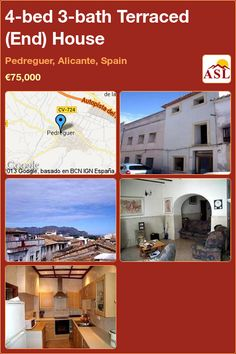 4-bed 3-bath Terraced (End) House in Pedreguer, Alicante, Spain ►€75,000 #PropertyForSaleInSpain