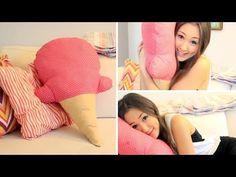 DIY: No Sew Ice-Cream Cone Pillow | LaurDIY - YouTube