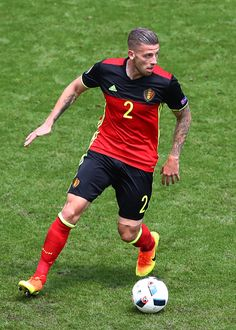 Toby Alderweireld of Belgium in action during the UEFA EURO 2016 Group E match between Belgium and Republic of Ireland at Stade Matmut Atlantique on...