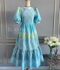 Lehenga Designs Simple, Modest Long Dresses, Bridal Sarees South Indian, Hijab Fashion, Women's Fashion, Short Frocks, Sunday Dress, Batik Dress, Cute Girl Poses