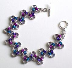 Japonais Zigzag cotte de mailles Bracelet par katestriepenjewelry