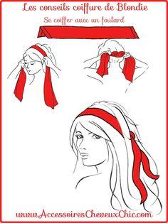 Se Coiffer avec un foulard cheveux