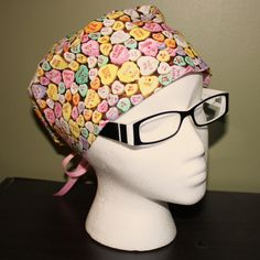 valentine scrub hat