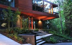 42 Ideas For Exterior Stone House Modern Walkways Residence Architecture, Architecture Design, Contemporary Architecture, Landscape Architecture, Cullen House Twilight, Modern Exterior, Exterior Design, Future House, My House