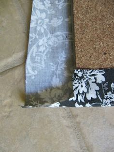 Sew Many Ways --- pretty fabric covers for cork-board