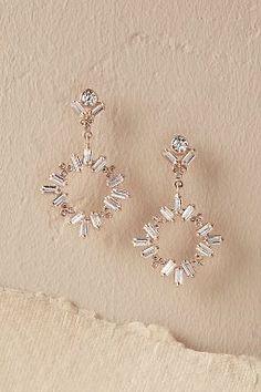 BHLDN Dangling Circlet Earrings in Shoes & Accessories Jewelry Earrings Bridal Accessories, Wedding Jewelry, Jewelry Accessories, Jewelry Design, Fashion Jewelry, Women Jewelry, Circlet, Piercing, Wedding Earrings