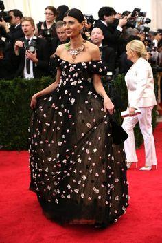 Giovanna Battaglia in Dolce & Gabbana at the Met Gala 2014