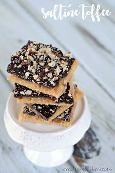 Saltine Toffee - no one will believe how easy it is to make this addicting candy. Everyone loves it!