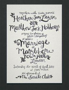 Blush°° Bespoke & custom letterpress printing in the UK» Blog Archive » Hand Drawn Letterpress Invitation