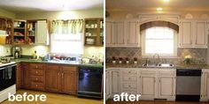 This kitchen remake only cost $17!  Before & After: 15 Creative Kitchen Renovations | The Kitchn