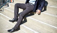 I don't get lazy with style. But ever man could use some dress pant sweatpants.