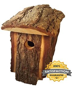 Best Birdhouse Made By Amish Artists, Traditional Natural Looking Pine To Attract Birds, Very Unique Bird House, Top Quality Design Of All Wooden Bird Houses * To view further for this sponsored item, visit the image link. #birdhouseideas