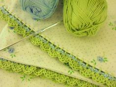gillyflower - crochet edged vintage pillowcases