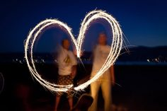 Awesome idea for fourth of july photos with sparklers or glow sticks (in the middle of this post from 71 Toes blog).