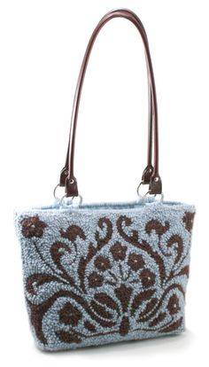 free needle punch patterns | Small Toile Tote Pattern Only- Punch Needle Multi-Craft Pattern