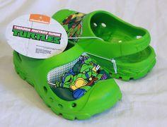 e1b2deb1a11b TEENAGE MUTANT NINJA TURTLES TODDLER SLIPPERS SANDALS GREEN CLOGS 5 6 7 8  TMNT  Nickelodeon