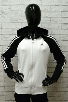 huge discount ebbc5 1f746 Felpa ADIDAS Donna Taglia Size 48 Maglione Sweater Pullover Woman Bianco  Nero