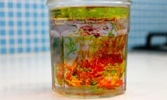 Fireworks in a jar science experiment - Kidspot