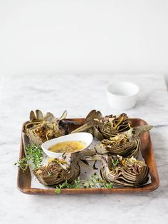 Grilled Artichoke with Garlic Butter