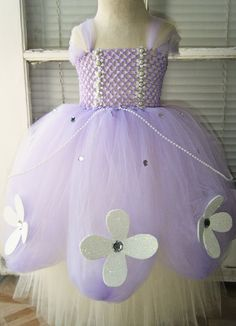 Sofia the First Inspired Tutu Dress by KalilaKloset on Etsy, $45.00