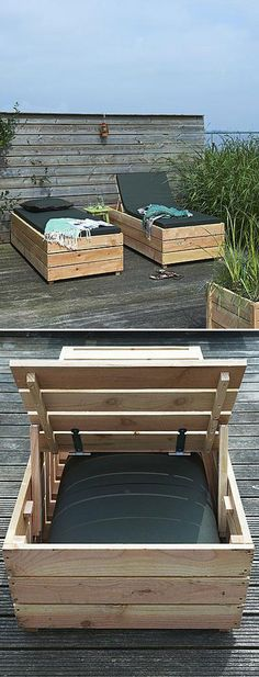 DIY Daybed/outdoor lounger/storage