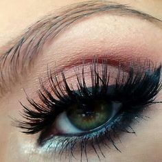 Close up elegant simple makeup