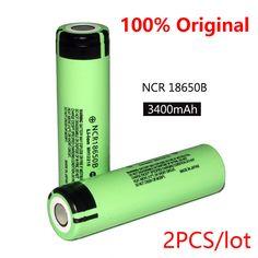 2 PCS 100% Baru Asli 18650 NCR18650B 3400 mAh 3.7 V Li-ion baterai Isi Ulang + Gratis pengiriman