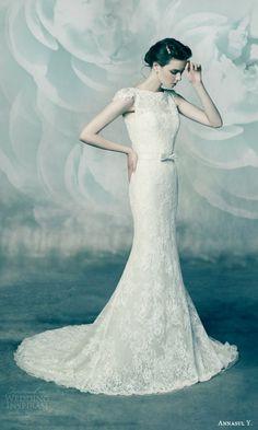 Annasul Y. 2016 Wedding Dresses   Wedding Inspirasi   All Lace Capped Sleeve Mermaid Silhouette Bridal Gown, Chapel Train^^^^