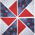 Fireworks Fabric Pinwheel