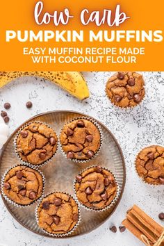 I am addicted to these low carb pumpkin muffins! Not only are they made with coconut flour, they are also super easy and only require a few ingredients! Such an easy and healthy muffin recipe for kids and adults!