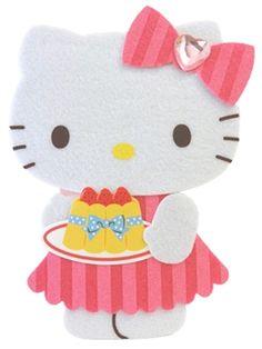 Hello Kitty Birthday Cake Gift Soft and Fluffy Greeting Card #HelloKitty