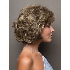 Curly Bob Wigs, Curly Hair With Bangs, Haircuts For Curly Hair, Curly Hair Cuts, Short Curly Hair, Short Hair Cuts, Wig Hairstyles, Curly Hair Styles, Wedding Hairstyles