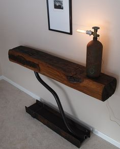 "Reclaimed Farmhouse Beams Made Into Eclectic ""Farmpunk"" Furniture"