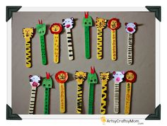 Artsy Craftsy Mom: Ice cream Stick Animal Bookmarks