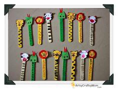 Artsy Craftsy Mom: Ice cream Stick Animal Bookmarks