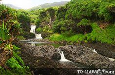 Maui  Seven Scared Falls up Hana Hwy