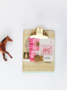 DIY Mini Gold Clipboard Wall Display - MAGGIE HOLMES Photography and Scrapbooking Blog