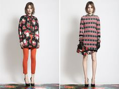 How fun and inspiring are these ensembles from emerging Italian brand MSGM? I'm loving the floral prints, metallic details, geometric patterns, tweed accents, bold use of colors, spiked heels, and glitter sunnies . . . the entire pre-fall collection is head to toe perfection!